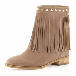 michael kors • billy fringe suede ankle boots